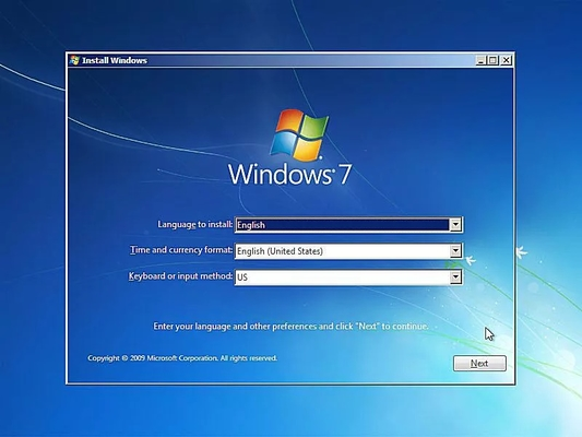 windows 7 install 1